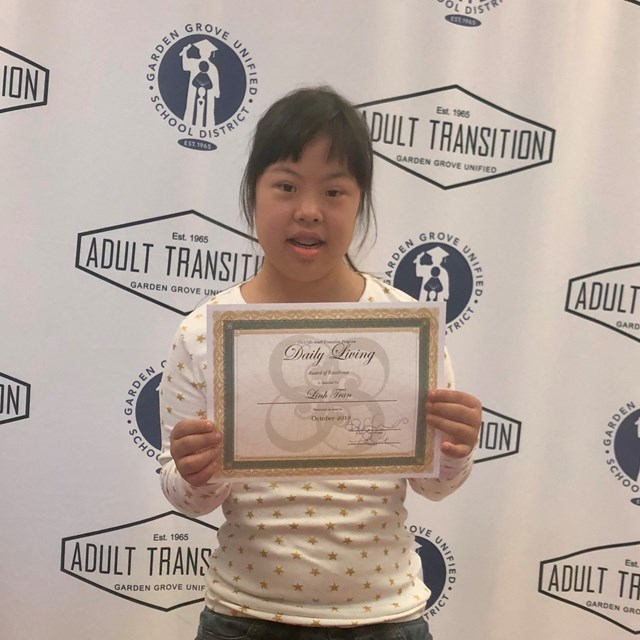 Congratulations to Linh Tran winning Daily Living award for October 2019