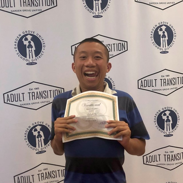 October 2019 recipient of the Vocational Award is Bill Vo